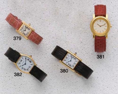 Cartier: A Ladies 18ct Gold Qu