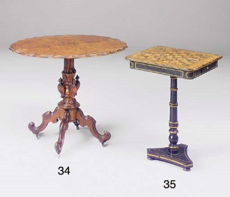 A Regency penwork games table