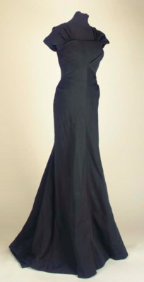 A full-length evening dress of