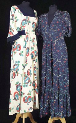 A lady's full-length dress of