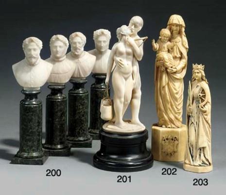 A set of four Italian sculpted