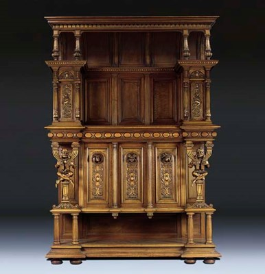 A LARGE FLEMISH WALNUT CABINET