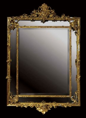 A GILTWOOD AND GESSO MIRROR