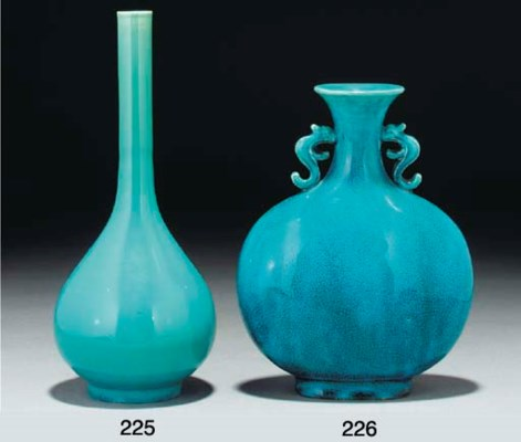 A Chinese turquoise crackle gl