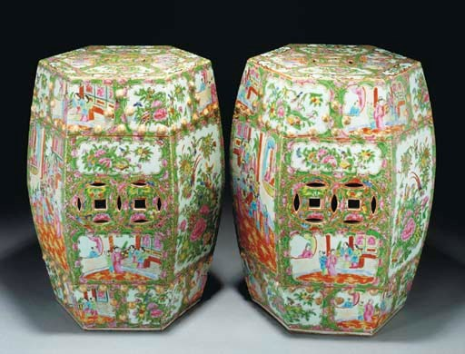 A pair of Cantonese hexagonal