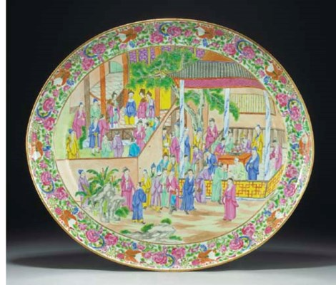 A large Cantonese oval dish, 1