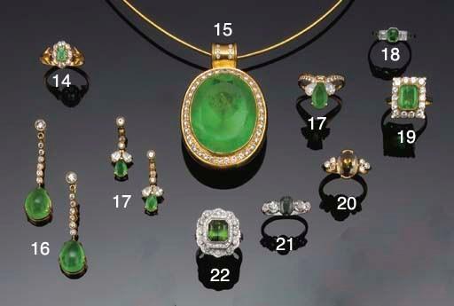 A green sapphire and diamond f