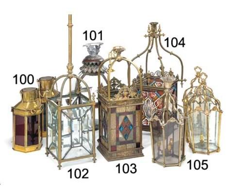 A Late Victorian brass hall la