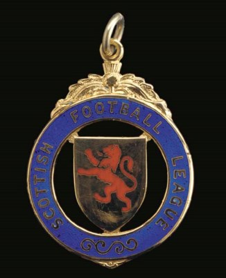 TWO 9CT GOLD AND ENAMEL SCOTTI