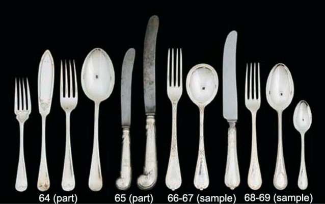 A PART SERVICE OF SILVER-PLATE