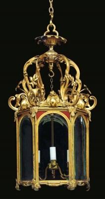 A WILLIAM IV ORMOLU HEXAGONAL