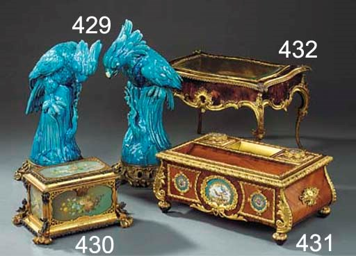 A FRENCH GILT AND SILVERED MET