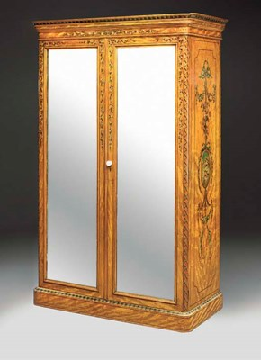 AN EDWARDIAN SATINWOOD DECORAT