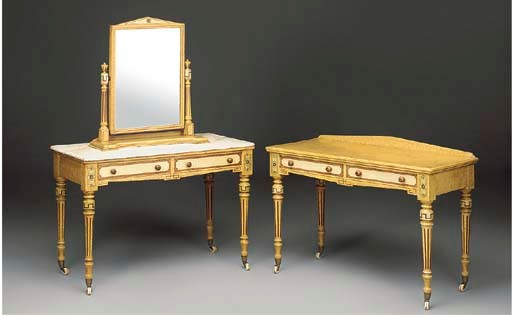 A VICTORIAN PAINTED WASHSTAND,