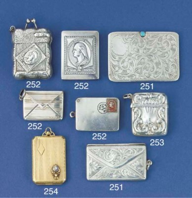 A silver pocket envelope-type