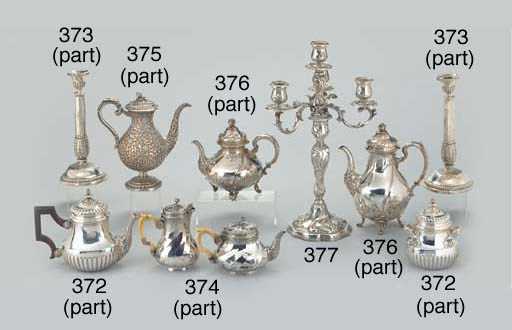 AN INDIAN SILVER THREE-PIECE S