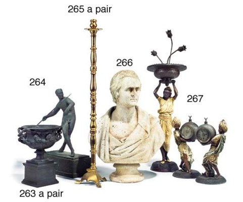 A French painted spelter timep