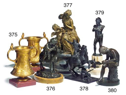 A Louis Philippe bronze group