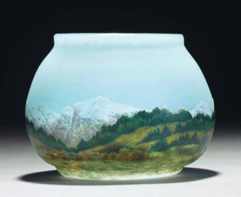 AN ETCHED AND ENAMELLED MOUNTA