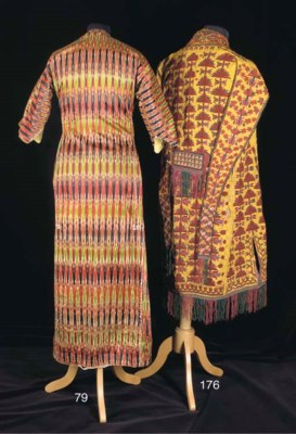 A robe of striped atlas, woven