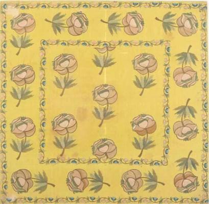 A bocha of yellow silk, tambou