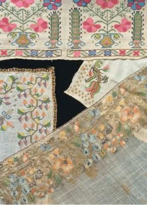 An embroidered sash of fine mu