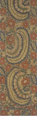 An embroidered linen border fr