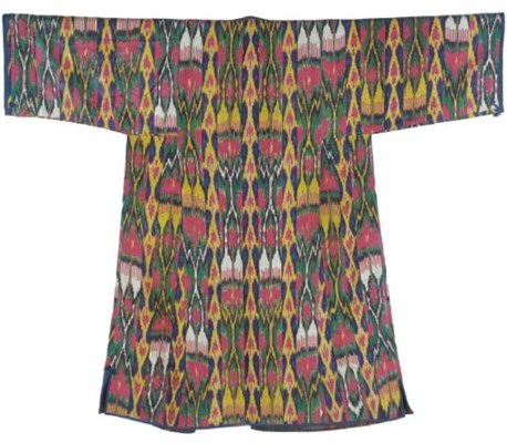 A chapan of silk and cotton ik