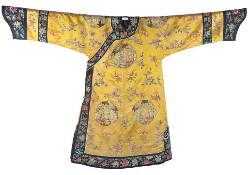 An informal robe of yellow sat