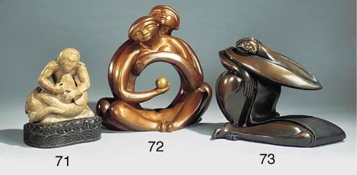 A Continental bronze figural s