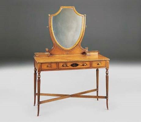 A mahogany and painted dressin