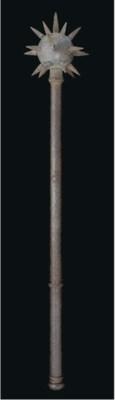 An iron mace, India, 19th Cent