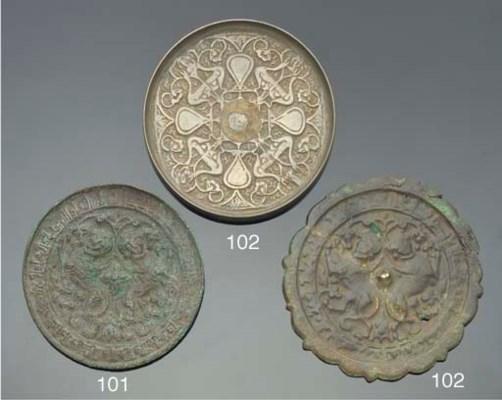 A bronze mirror, Iran, 13th Ce