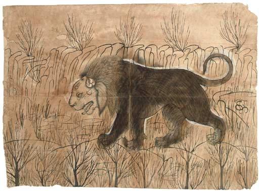 A LARGE SKETCH OF A LION, KOTA