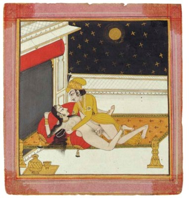 AN ILLUSTRATION FROM AN EROTIC
