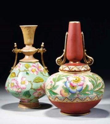 An Old Hall Twin-handled Vase