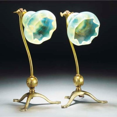 A Pair of WAS Benson Brass Lam