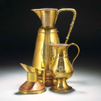 A Copper and Brass Jug