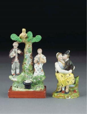 Two English pearlware groups