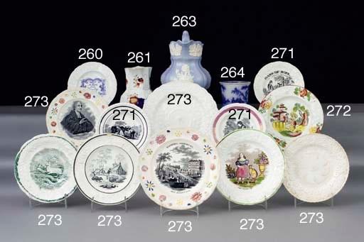 Six various pottery Dillwyn ju
