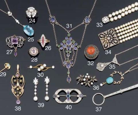 An Arts and Crafts sapphire an