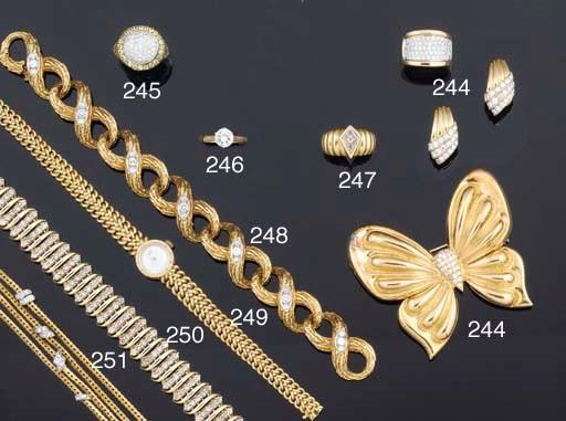 An 18ct. gold and diamond brac