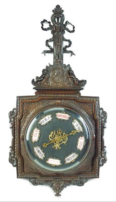 A French bronze barometer