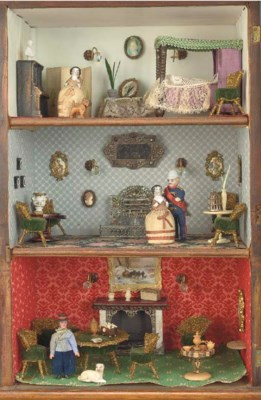A small cabinet of three rooms