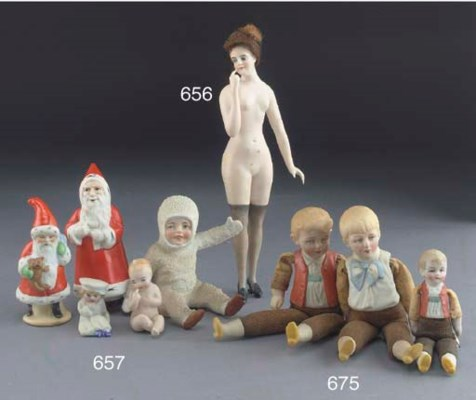 Three Hertwig & Co boy dolls