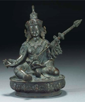 A Nepalese patinated copper mo