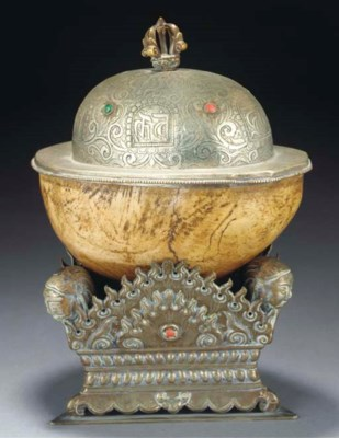 A Tibetan kapala, 19th century