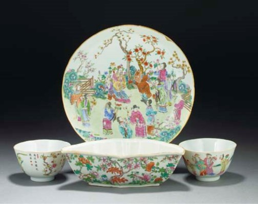 A Chinese famille rose dish, D