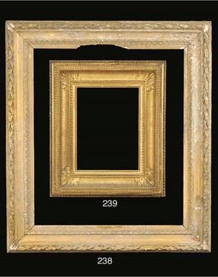 An Italian carved wood frame