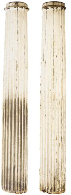 A PAIR OF CREAM-PAINTED WOOD D